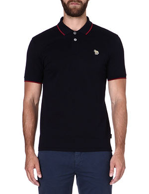 PAUL SMITH JEANS Zebra mercerized-cotton polo shirt