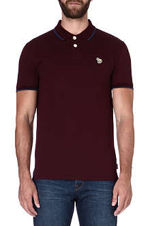 PAUL SMITH JEANS Zebra mercerized-cotton polo shirt