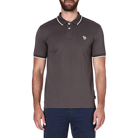 PAUL SMITH JEANS Zebra mercerized-cotton polo shirt (Ecru