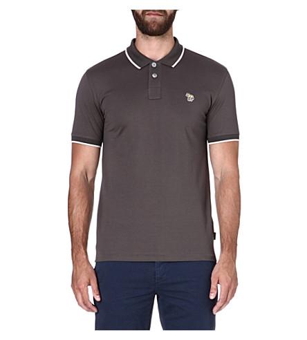 PAUL SMITH JEANS Zebra mercerized-cotton polo shirt (Ecru