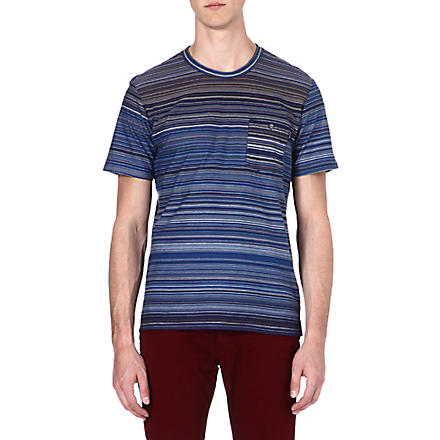 PAUL SMITH JEANS Multi-striped t-shirt (Navy