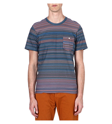 PAUL SMITH JEANS Multi-striped t-shirt (Turq