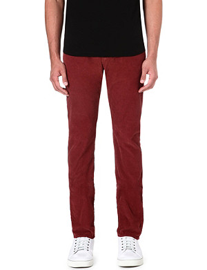 PAUL SMITH JEANS Corduroy regular-fit tapered trousers