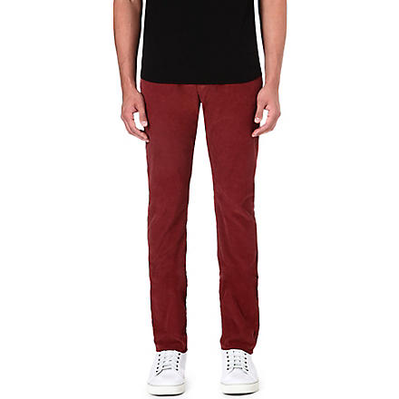 PAUL SMITH JEANS Corduroy regular-fit tapered trousers (Damson