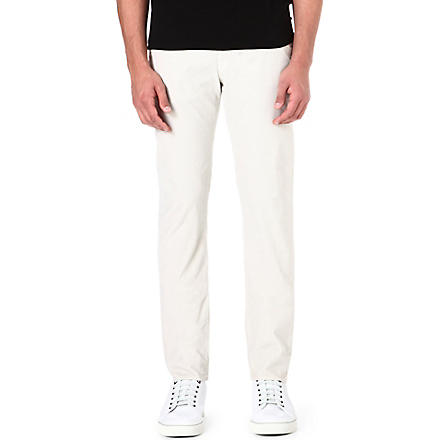 PAUL SMITH JEANS Corduroy regular-fit tapered trousers (Ecru