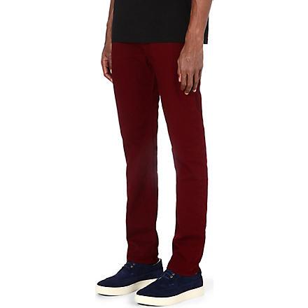 PAUL SMITH JEANS Slim-fit tapered denim jeans (Damson