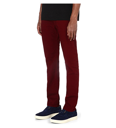 PAUL SMITH JEANS Slim-fit tapered denim jeans (Damson