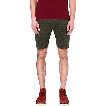 PAUL SMITH JEANS Geodesic regular-fit shorts (Khaki