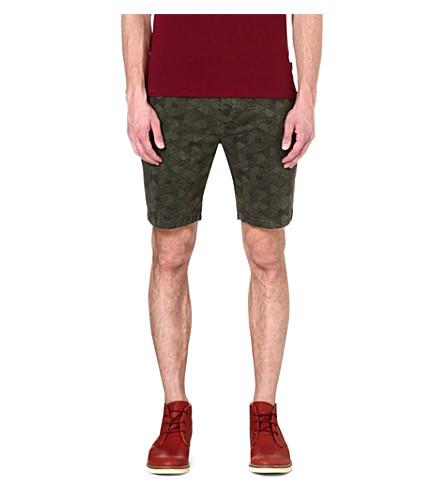 PAUL SMITH JEANS Geodesic regular-fit shorts (Khaki