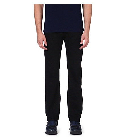 PAUL SMITH JEANS Regular-fit straight jeans (Black