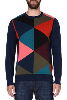 PAUL SMITH JEANS Geometric print jumper