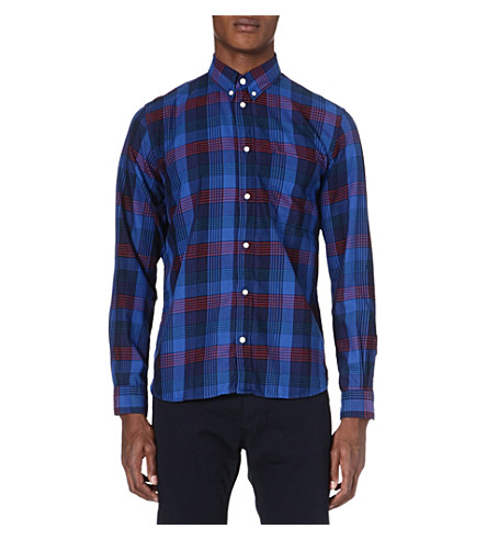 PAUL SMITH JEANS Checked cotton shirt (Indigo