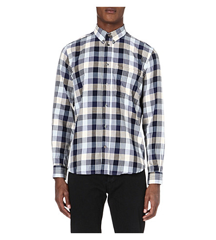 PAUL SMITH JEANS Checked cotton shirt (Navy