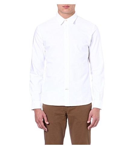 PAUL SMITH JEANS Oxford cotton shirt (White