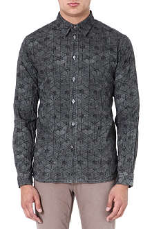 PAUL SMITH JEANS Triangle-print regular-fit shirt