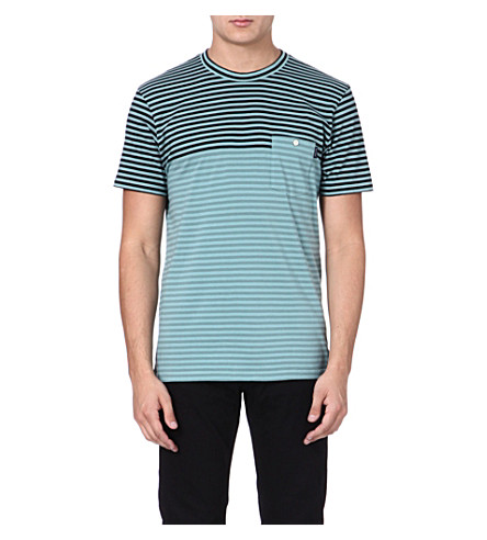 PAUL SMITH JEANS Two-toned striped t-shirt (Green