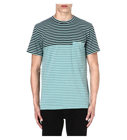 PAUL SMITH JEANS Striped pocket t-shirt (Indigo