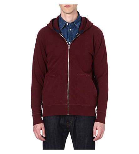 PAUL SMITH JEANS Zip-up hoody (Damson