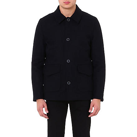 PAUL SMITH JEANS Wool-blend car coat (Navy