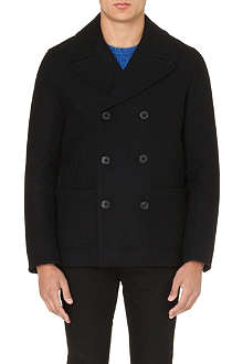 PAUL SMITH JEANS Double-breasted wool peacoat