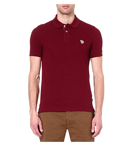PAUL SMITH JEANS Zebra slim-fit polo shirt (Damson