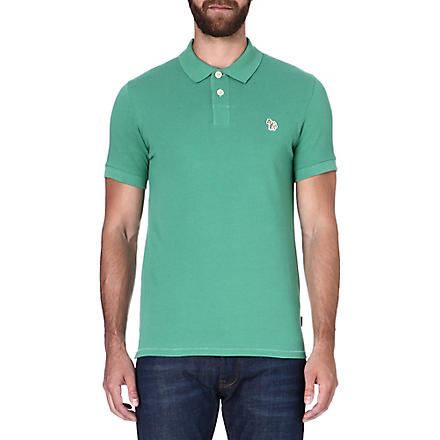 PAUL SMITH JEANS Zebra slim-fit polo shirt (Green
