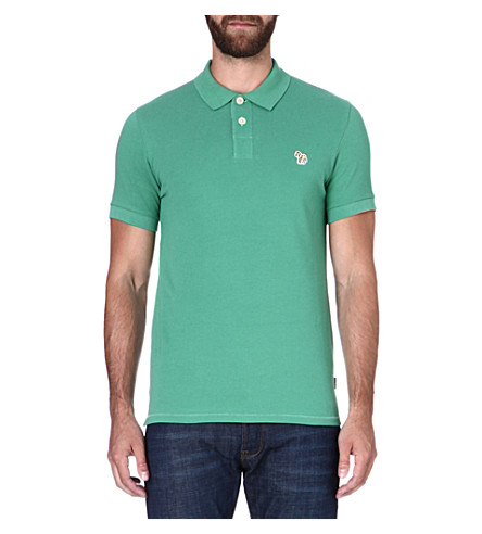 PAUL SMITH JEANS Zebra slim-fit polo shirt (Green