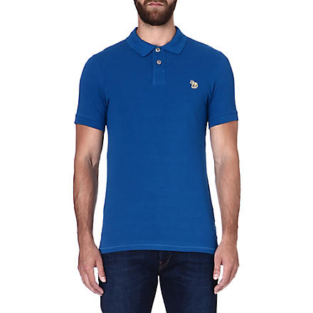 PAUL SMITH JEANS Zebra slim-fit polo shirt (Blue