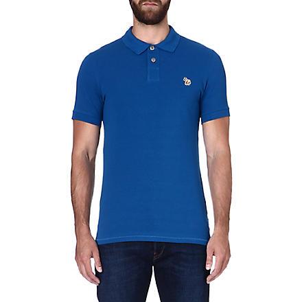 PAUL SMITH JEANS Zebra slim-fit polo shirt (Blue
