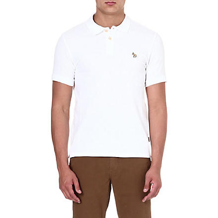 PAUL SMITH JEANS Zebra slim-fit polo shirt (White
