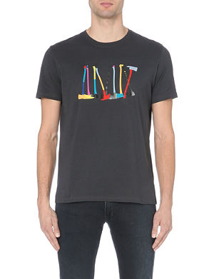 PAUL SMITH JEANS Axe-print cotton-jersey t-shirt