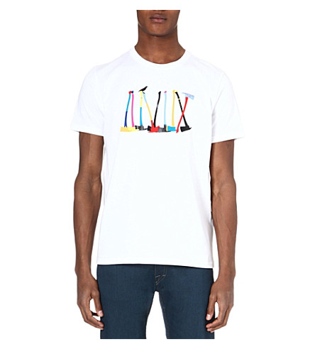 PAUL SMITH JEANS Axe-print cotton t-shirt (White