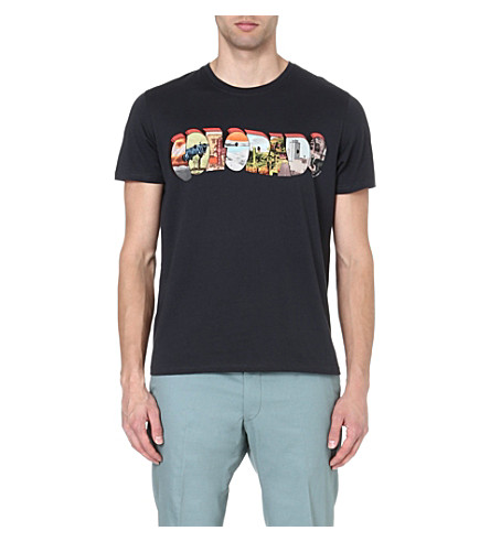 PAUL SMITH JEANS Colorado print t-shirt (Navy