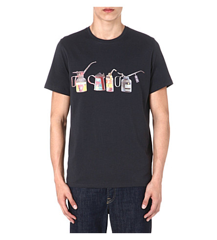PAUL SMITH JEANS Oil can print t-shirt (Navy
