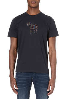 PAUL SMITH JEANS Zebra-print cotton t-shirt