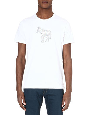 PAUL SMITH JEANS Cotton zebra-print t-shirt
