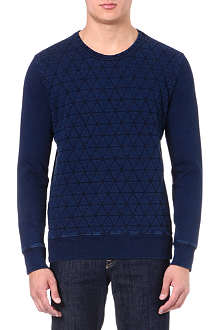 PAUL SMITH JEANS Quilted cotton sweatshirt