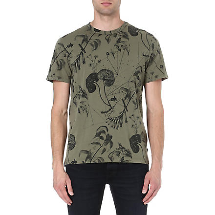 PAUL SMITH JEANS Floral print t-shirt (Khaki