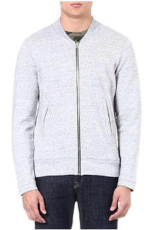 PAUL SMITH JEANS Zip-through cotton cardigan