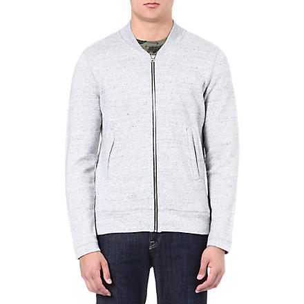 PAUL SMITH JEANS Zip-through cotton cardigan (Grey