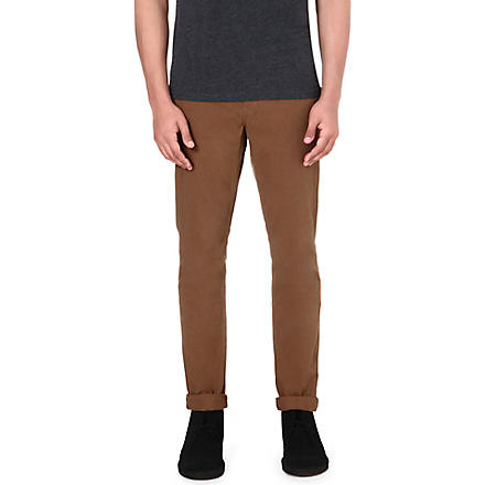 PAUL SMITH JEANS Tapered cotton chinos (Tan