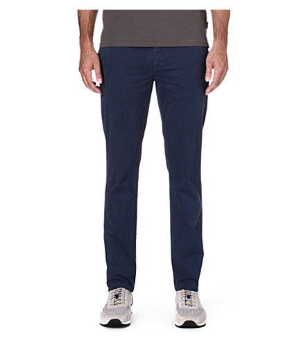 PAUL SMITH JEANS Tapered cotton chinos (Navy