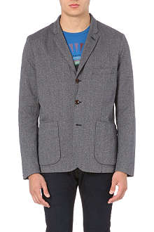 PAUL SMITH JEANS Herringbone cotton blazer