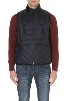PAUL SMITH JEANS Quilted down-filled gilet