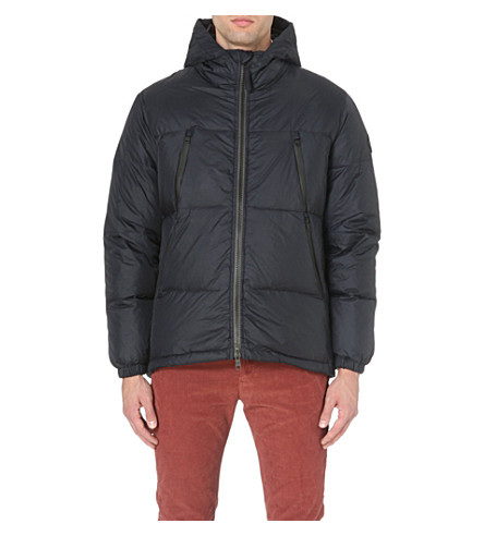 PAUL SMITH JEANS Quilted down-filled coat (Navy