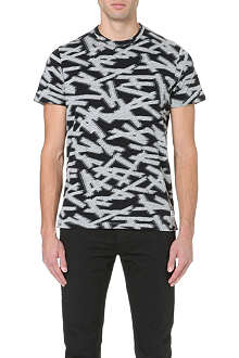 PAUL SMITH JEANS Tape-print jersey t-shirt