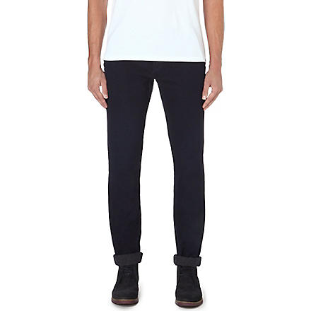 PAUL SMITH JEANS Cavalry slim-fit tapered twill trousers (Navy