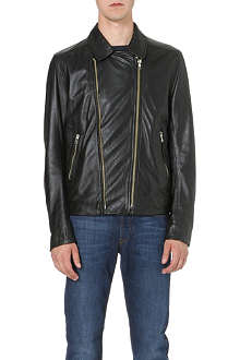 PAUL SMITH JEANS Leather biker jacket