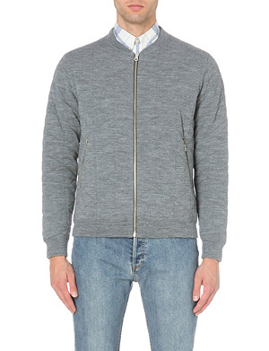 PAUL SMITH JEANS Quilted-jersey bomber jacket