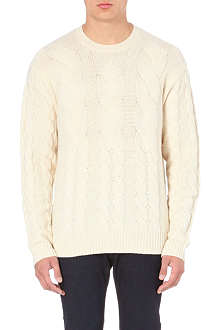 PAUL SMITH JEANS Cable-knit wool jumper